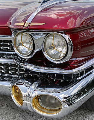 Photograph - Cadillac El Dorado 1958 Headlights. Miami by Juan Carlos Ferro Duque