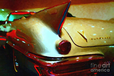 Domestic Car Photograph - Cadillac Eldorado . Painterly Style by Wingsdomain Art and Photography