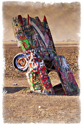 Photograph - Cadillac Graveyard II - Impressions by Ricky Barnard