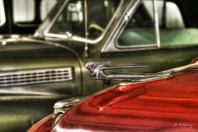 Photograph - Cadillac Hood Ornament by Andrea Kelley