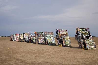Cadillac Ranch Is A Public Art Art Print