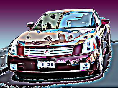 Cadillac Xlr Art Print by Samuel Sheats