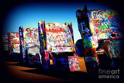 Cadillac Ranch Photograph - Cadillacs On Route66 by Susanne Van Hulst