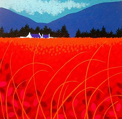 Cadmium Landscape Art Print