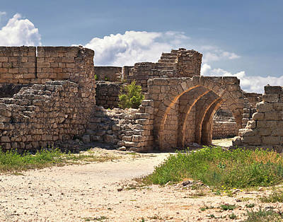Photograph - Caesarea Arches by Endre Balogh