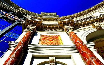 Photograph - Caesars Palace Architecture by Linda Edgecomb