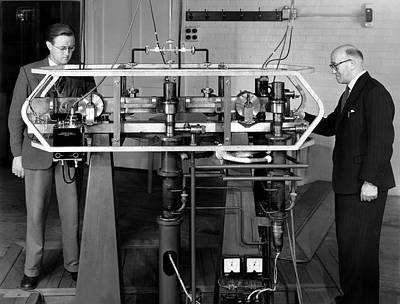 Resonator Photograph - Caesium Atomic Clock, 1956 by National Physical Laboratory (c) Crown Copyright