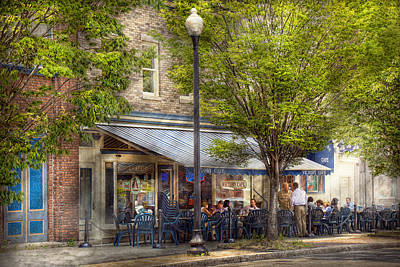 Photograph - Cafe - Albany Ny - Victory Cafe by Mike Savad