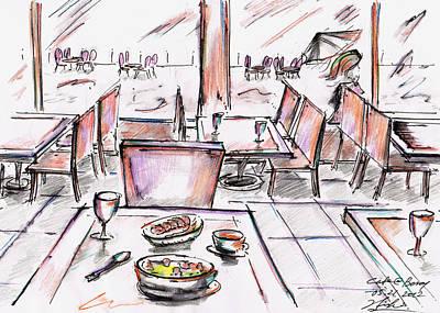 Cafe At Bercy - Paris Art Print