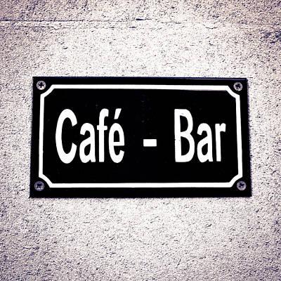 Cafe- Bar Art Print by Tom Gowanlock