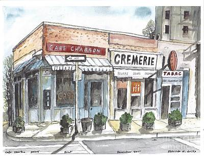Cafe Charbon Nyc Art Print