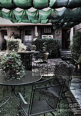 Photograph - Cafe Courtyard by Joanne Coyle