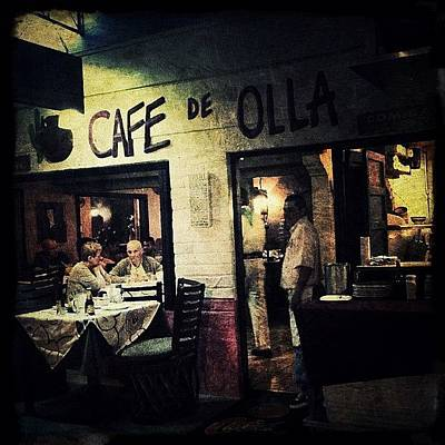 Restaurant Photograph - Cafe De Olla In Puerto Vallarta by Natasha Marco
