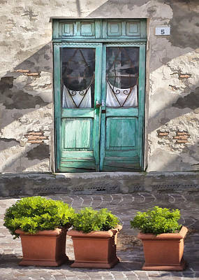 Digital Art - Cafe Doors In Brisighella by Sharon Foster