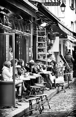 Photograph - Cafe Friends by John Rizzuto