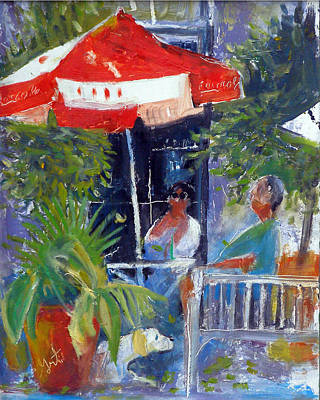 Painting - Cafe by Gertrude Palmer