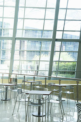 Cafe In Office Building Art Print