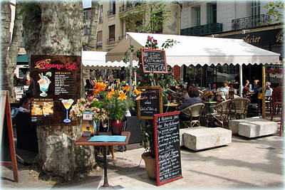 Provence Photograph - Cafe In Vence by Carla Parris