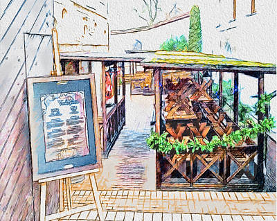No Place Like Home Digital Art - Cafe In Vilnius by Yury Malkov