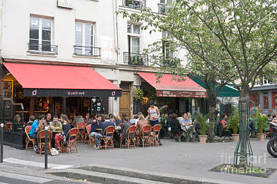 Photograph - Cafe Life In Paris by Fabrizio Ruggeri