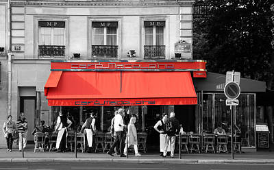 Photograph - Cafe Madeleine Paris by Andrew Fare