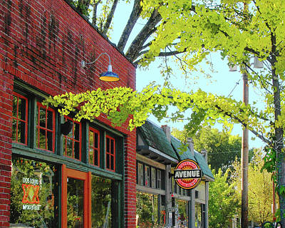 Digital Art - Cafe Ole And Young Ave Deli  by Lizi Beard-Ward