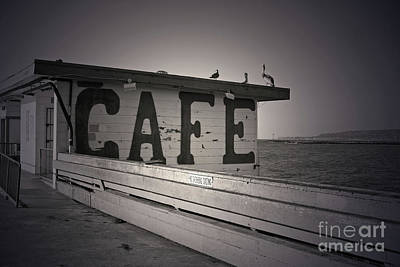 Cafe On The Pier Art Print