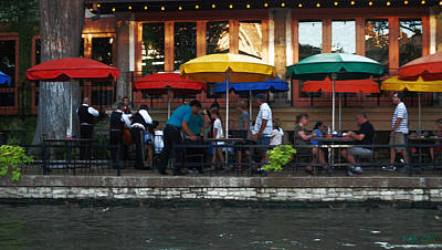 Texas Photograph - Cafe On The River by Kelly Rader