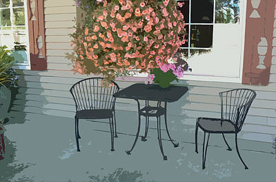 Clark Table Photograph - Cafe Seating by Pamela Patch