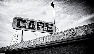 Hot Dogs Photograph - Cafe Signage by Ron Regalado