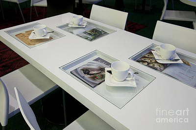 Cafe Table With Cookbooks Art Print by Jaak Nilson