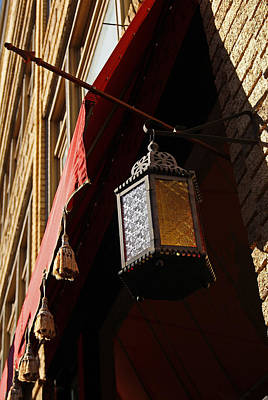 Photograph - Cafe Window Tassels And Lantern by Margie Avellino