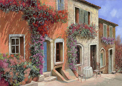 Italian Wall Art - Painting - Caffe Sulla Discesa by Guido Borelli