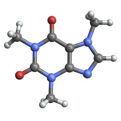 Caffeine Molecule Art Print by Pasieka