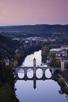 Cahors, Pont Valentre, Midieval Bridge Art Print