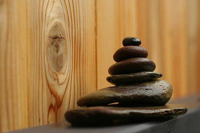 Photograph - Cairn Meditation Stones by Heidi Hermes