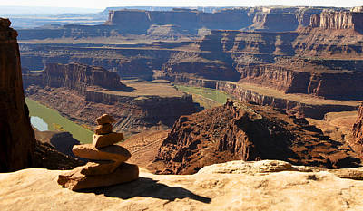 Photograph - Cairn Over Canyon by Marilyn Hunt