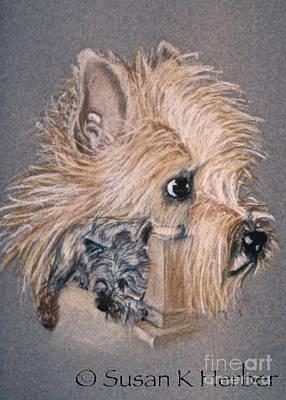 Pastel - Cairn Terrier Friends by Susan Herber