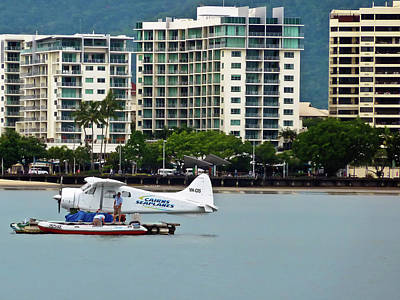 Photograph - Cairns Skyline With Seaplane by Harry Strharsky