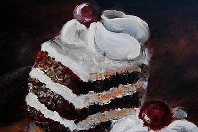 Painting - Cake 01 by Nik Helbig