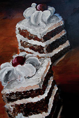 Painting - Cake 03 by Nik Helbig