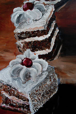 Painting - Cake 04 by Nik Helbig