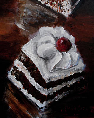 Painting - Cake 06 by Nik Helbig