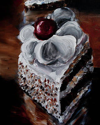 Painting - Cake 07 by Nik Helbig