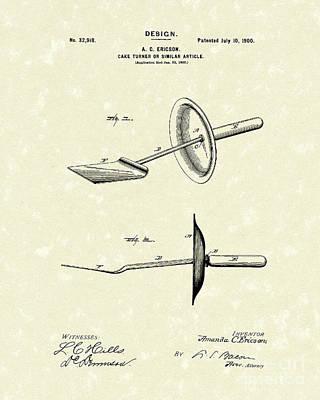 Cake Turner Design 1900 Patent Art Art Print by Prior Art Design