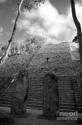 Photograph - Calakmul Climber Campeche Mexico by John  Mitchell