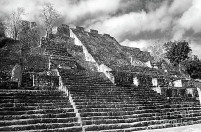 Photograph - Calakmul Pyramid Horizontal Campeche Mexico by John  Mitchell