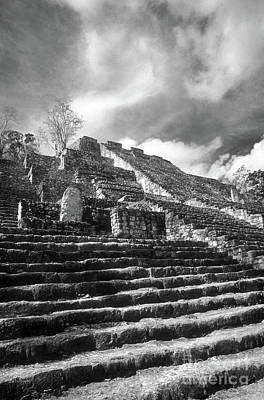 Photograph - Calakmul Pyramid Vertical Campeche Mexico by John  Mitchell