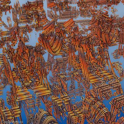 Calcutta Temple Goes To Heaven. Art Print by Tautvydas Davainis