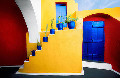 Photograph - Caldera Villa-santorini by John Galbo